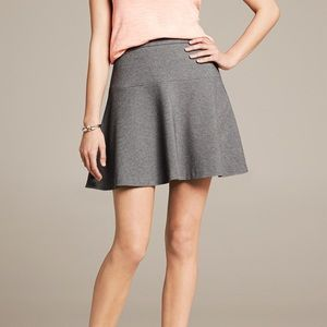 Banana Republic Gray Ponte Fit and Flare Skirt